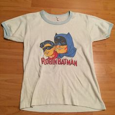 Vintage 1970's Batman Robin DC Comics Cartoon Tee Shirt   eBay