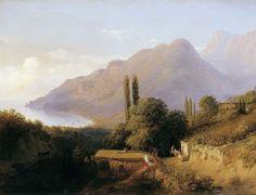 Крымский пейзаж. Холст, масло. Лагорио Лев Феликсович (1827-1905)