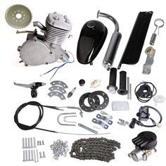 80cc 2-Stroke Motor Engine Kit Gas for Motorized Bicycle Bike Silver