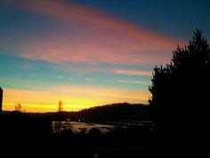"""Morning view"" ...from my house :-)...Río BioBio, San Pedro De La Paz... #Chile."