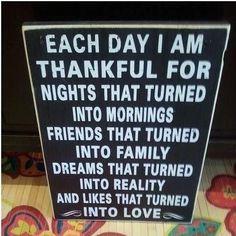 Each Day I'm So Thankful!