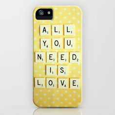 All You Need is Love iPhone Case by Happeemonkee