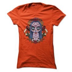 Day Of The Dead Sugar Skull Bride With Roses T-shirt T Shirt, Hoodie, Sweatshirt
