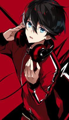 Superb Anime Boy Black Hair Cards Anime Artwork Pinterest Short Hairstyles Gunalazisus