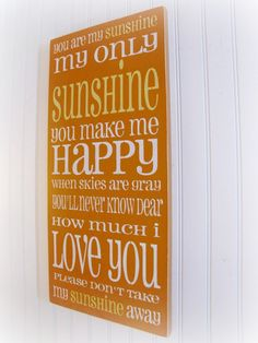 You Are My Sunshine Shabby Chic Typography by cellardesigns, $92.00 reneaucook