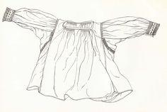 Rukávce, Sečovská Polianka, začiatok 20. storočia. Rukávce (oplečko) sú ušité z domáceho konopného plátna. Majú rovný strih s kolmo prišitými rukávmi a so širokými bočnými klinmi. Siahajú niečo niže pása. Rukávce z konopného plátna patrili k všedným odevným súčiastkam. Vo sviatočné dni sa nosili rukávce z bavlneného plátna, zvyčajne s úzkym pásikom výšivky pozdĺž švíka medzi bočnými dielmi a zadným dielom. Začiatkom 20. storočia to bola čierna krížiková výšivka, ktorú neskôr vystriedala…