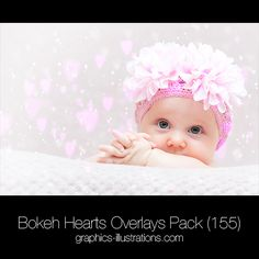 Bokeh Hearts Overlays Pack for Wedding and Valentine's Day - JPG and PNG - Graphics-Illustrations.Com - Photoshop brushes, backgrounds, graphics and vectors