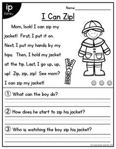 Short Vowel Reading Comprehension Passages - perfect for kindergarteners and first grade DONE Reading Comprehension Worksheets, Reading Fluency, Reading Passages, Reading Activities, Guided Reading, Teaching Reading, First Grade Reading Comprehension, Reading Help, Reading Skills