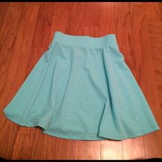 Blue skater skirt Really cute skater skirt that's perfect for summer, it's a light blue that looks pretty with a bunch of different tops. Size small but can also fit medium. Price negotiable Skirts Circle & Skater