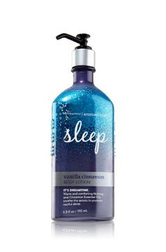 Bath and Body Works Vanilla Cinnamon Body Lotion Sleep Ar…