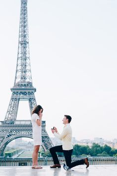 Dream proposal in Paris, right in front of the Eiffel Tower! The full story is just perfect.