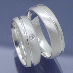 Silber Freundschaftsringe mit umlaufender Glanzrille P6216770