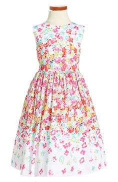 Oscar de la Renta 'Layered Pansies' Sleeveless Party Dress (Little Girls & Big Girls) available at #Nordstrom