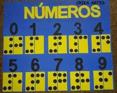 Crika Artes: E.V.A Números em Braille