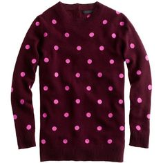 Collection Cashmere Polka-Dot Sweater ($180) ❤ liked on Polyvore