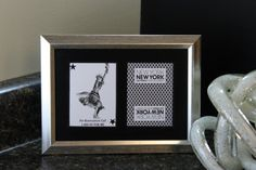 New York New York Las Vegas 5x7 Reservation Authentic Playing Card Display by SinCityDisplays
