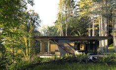 MW Works uses weathered cedar to build waterside Washington retreat