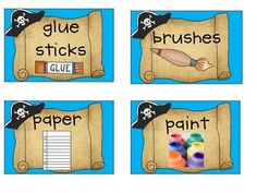 Pirate Classroom Supply Labels-FREE!