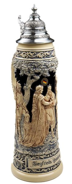 Siegfried, Amazon.com: Beer Stein by King - Collectors Edition Limitaet 2010 German Beer Stein (Beer Mug) Limited: Kitchen & Dining