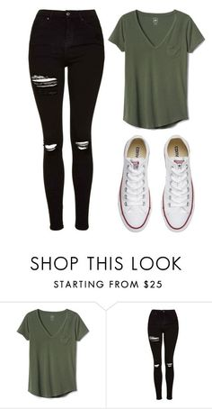 """Untitled #436"" by cuteskyiscute on Polyvore featuring Gap, Topshop and Converse"