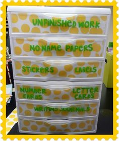 pinterest classroom organization | The Very Busy Kindergarten: classroom organization | Slap!