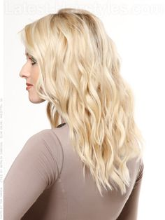 The Beach Wave Soft Cascading Blonde Waves Side View Modern Hairstyles, Latest Hairstyles, Pretty Hairstyles, Amazing Hairstyles, Long Hairstyles, Hairstyle Ideas, Hairdo For Long Hair, Long Hair Cuts, Cute Long Haircuts