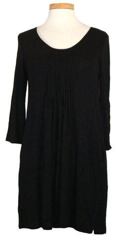 DKNY Womens Sleepwear Sleepshirt Modal Stretch Knit Scoopneck Black Sz S NEW $64 #DKNY #Sleepshirt