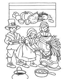 Boy Thanksgiving Food Coloring Page Kristin Batykefer Print This - thanksgiving food coloring pages