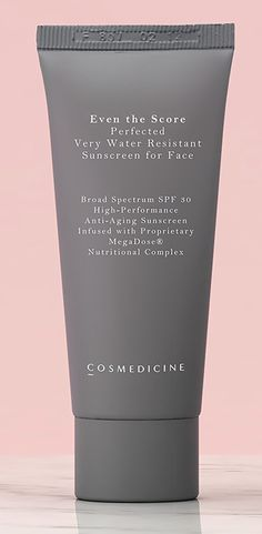 Cosmedicine Even the Score Perfected Very Water Resistant Sunscreen for Face ($95), cosmedicine.com   - TownandCountryMag.com