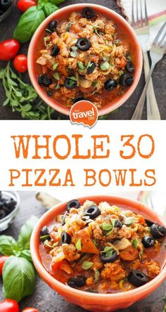 If you re ing you re going to love this recipe for Whole 30 Pizza Bowls. - If you re ing you re going to love this recipe for Whole 30 Pizza Bowls. An easy weeknight - Whole Foods, Whole 30 Diet, Paleo Whole 30, Whole 30 Vegetarian, Whole 30 Soup, Pizza Bowl, Whole 30 Meal Plan, Whole 30 Lunch, Whole 30 Meals