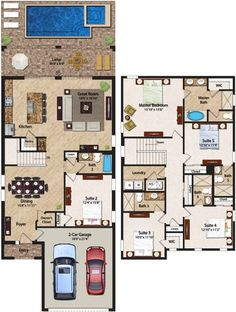 6 Bedroom Homes Ranging from 2828 to 3232 square feet the two-story residences feature&; 6 Bedroom Homes Ranging from 2828 to 3232 square feet the two-story residences feature&; the yvolutionist theyvolutionist Architecture 6 […] Homes Plans open floor Floor Plans 2 Story, House Plans 2 Story, House Plans Mansion, Pool House Plans, House Layout Plans, Dream House Plans, Modern House Plans, House Layouts, The Plan