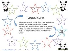 Here's a game for practicing doubles facts.