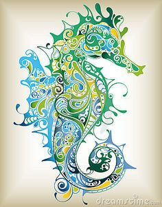 Abstract Sea Horse by Ka Ho Leung, via Dreamstime  Great technique that could be applied to a different image!