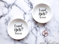 Every bride & bride to be will swoon over their new personalized jewelry dish! These charming jewelry dishes are perfect for keeping safe all your treasured rings and small jewelry items.Each jewelry dish will be personalized with your requested names.Surprise the special ones in your life with the most thoughtful gift:♡  ceramic dish personalized with your chosen name.♡  designed to hold your most precious rings & jewelry items.♡  every piece is carefully gift-wrapped just for you.♡  each…