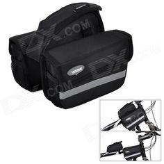VSHENG V-002Handy Water Resistant 1680D Oxford Fabric Saddle Bag for Bicycle - Black Price: $23.90