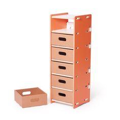 Drawerful Storage Unit - Orange | dotandbo.com