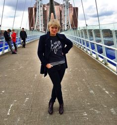A sequinned slogan sweatshirt added sparkle to a grey urban day. Midlifechic is a UK style blog for women over 40.