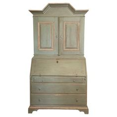 Check out this item at One Kings Lane! Swedish Gustavian Secretary, C. 1900