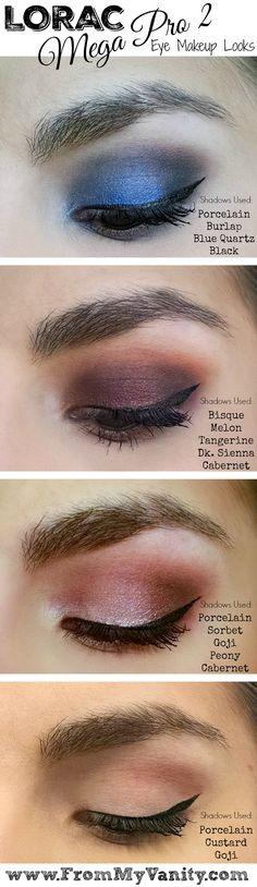 LORAC Mega Pro 2 Eyeshadow Palette // Review, Swatches, & Eye Looks // Eye Makeup Looks // #LORACCosmetics #MegaPro2 FromMyVanity.com