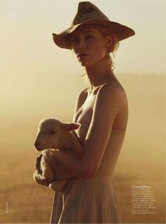 See You At Sundown - Actress Elizabeth Debicki photographed by Will Davidson and styled by Jillian Davison, Vogue Australia, December 2012 - via dustjacket attic