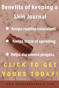 Learn to take daily notes of your skin journey. Write the bullets for each day routine and night routine. Document your skin issues on many different templates. Keep track of what beauty products you are buying and how much money you are spending on skincare. Learn to budget your beauty expenses. Get weekly, daily , and yearly skin affirmations and quotes to help boost your skin confidence. Practice good habits to better skin #naturalbeauty #writing #downloads #planner #skincondition… Acne Skin, Acne Prone Skin, Skin Care Regimen, Skin Care Tips, Hair Products, Beauty Products, Beauty Journal, The Ordinary Skincare, Copywriter