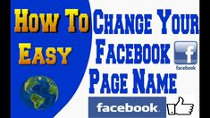 How To Change Facebook Page Name 2019 So Easy You Changed, Names, Facebook, Easy, Youtube, Youtubers, Youtube Movies