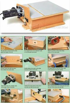 """home_decor-Router de banco casero. """"Build Horizontal Router Table - Router Tips, Jigs and Fixtures - Woodwork, Woodworking, Woodworking Plans, Wo Diy Router, Wood Router, Router Woodworking, Woodworking Workshop, Woodworking Techniques, Woodworking Projects, Router Jig, Router Projects, Wood Projects"""