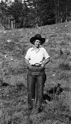 You can just tell she was a hardworking lady. #vintage #cowgirl #Western