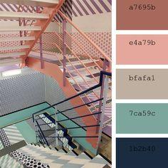 Paletas de color: tonos #coral #color #palettes