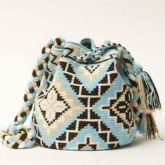 Just one left, Handmade Chico Mochila Wayuu imported from South America. Crochet Shoes, Diy Crochet, Crochet Chart, Tapestry Bag, Tapestry Crochet, Crochet Handbags, Crochet Purses, Mochila Crochet, Knit Basket
