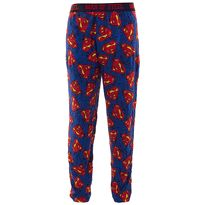 Blue Superman Logo Cotton Pajama Pants for Men