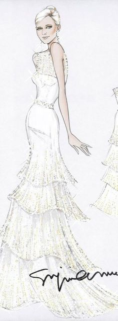Armani Bridal Fashion Illustration