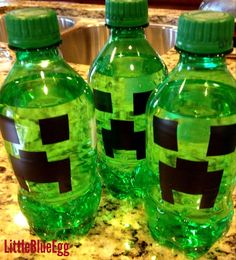 Minecraft PC Game party | CatchMyParty.com creeper drinks