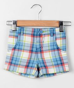 Another great find on #zulily! Sky Blue Plaid Shorts - Infant, Toddler & Boys by Beebay #zulilyfinds